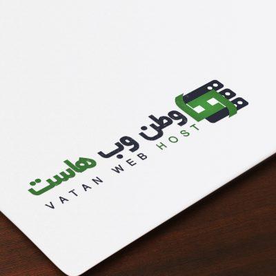 طراحی لوگو وبسایت وطن وب هاست